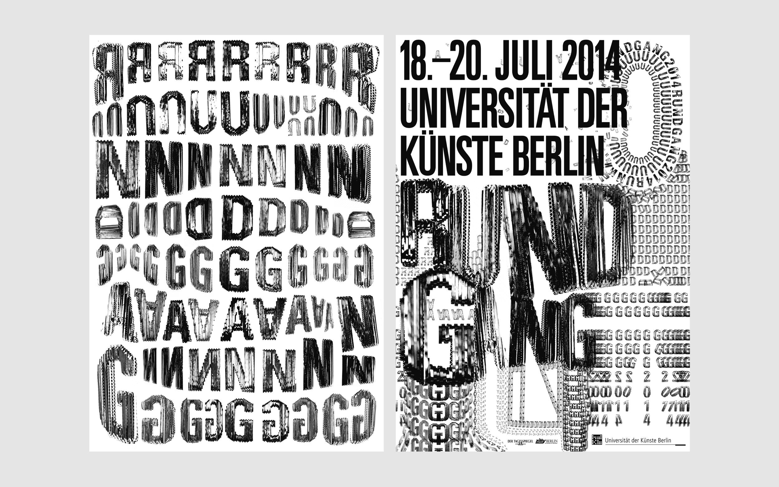 Poster designed for UdK Rundgang, 2014.