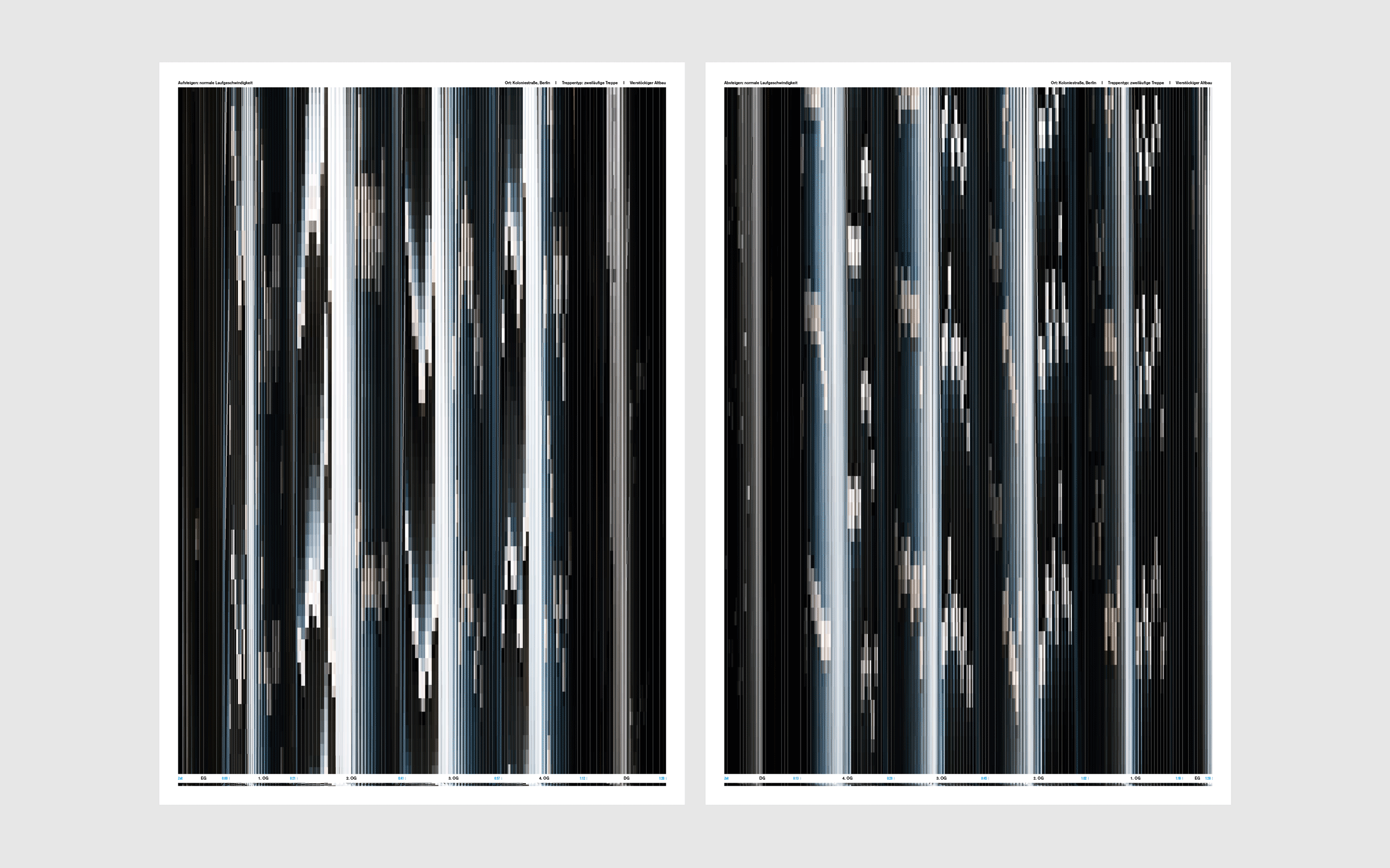 Documentation of Young Sam Kim's UdK Bachelor work: Staircase / poster series.
