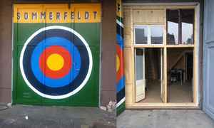 Exterior and interior shot of my Studio in Lichtenberg Berlin