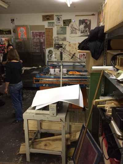 silkscreen workshop by punkers in Friedrichshain, Berlin