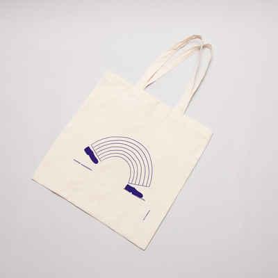 Silkscreened Tote bag with rainbow step