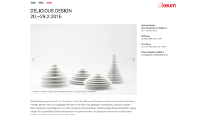 Screen grab of Keum art project desktop version