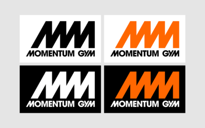 orange black and white are the main colours of Momentum Gym